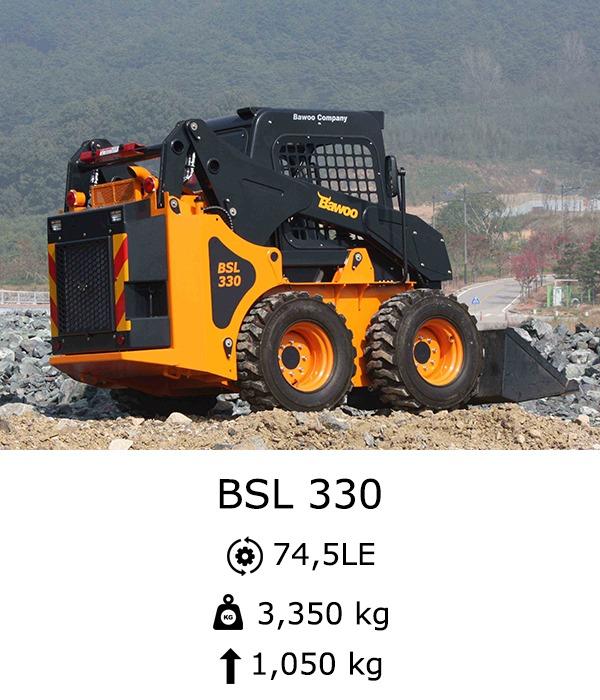 BAWOO BSL 330 Csúszókormányzású rakodó