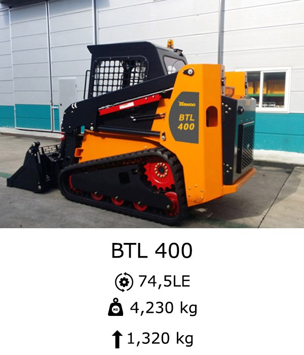 BAWOO BTL 400 Csúszókormányzású rakodó