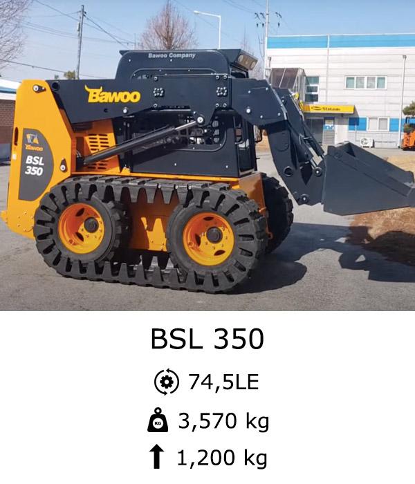 BAWOO BSL 350 Eladó kompakt rakodó Csúszókormányzású rakodó