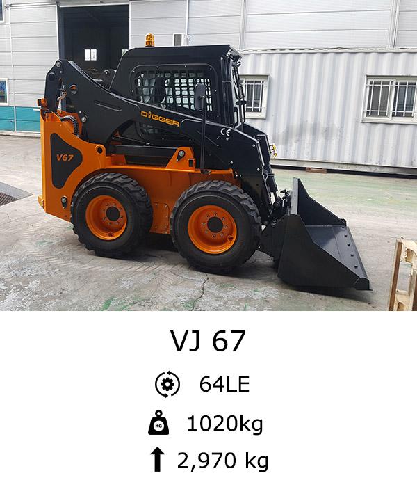 VJ 67 Csúszókormányzású rakodó